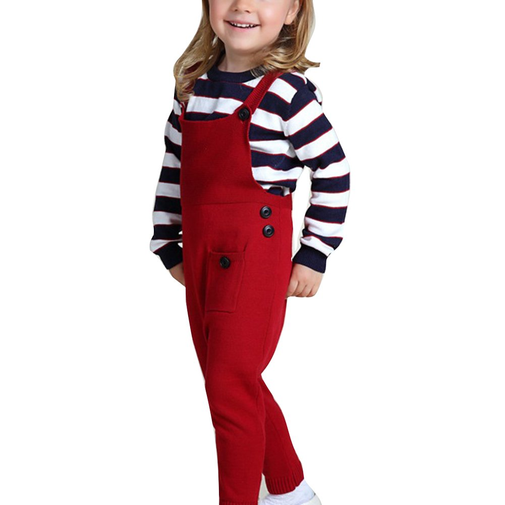 Baby Kinder Overall Unisex - Baumwolle Latzhose Warm Hose für Jungen Mädchen 1-5 Jahre Braun juqilu Network technology Ltd T170823P23-lu