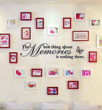SMILEQ Removable Wall Stickers Art Vinyl Mural Home Room Decor Quote Decal (A)