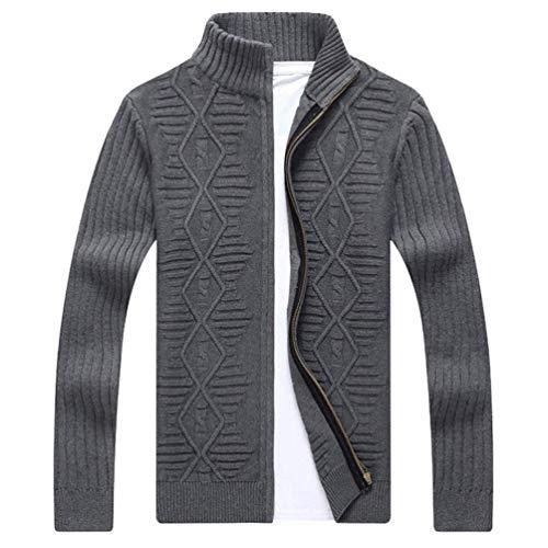 Invierno Jacquard Sweater Betrothales Cárdigan Hombres Jerseys Pullove 1  Negocios Grau aIvSq c1110e7a20b8