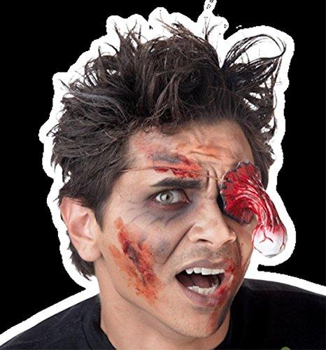Die Zombie Die Animated Prop (Bloody Eyeball-ZOMBIE EYE PATCH-Walking Dead Cosplay Halloween Costume Mask Prop)