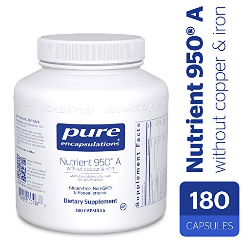 (Pure Encapsulations - Nutrient 950 A Without Copper & Iron - Hypoallergenic Multi-Vitamin/Mineral Formula for Optimal Health* - 180 Capsules)