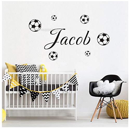 LIANGLE Wall Sticker Wall Stickers Murals Soccer Wall Sticker Name Child Bedroom Boys Room Vinyl Decal Small Football Wallpaper Home Decoration Poster Mural 60X30Cm (Best Vinyl Reissues 2019)