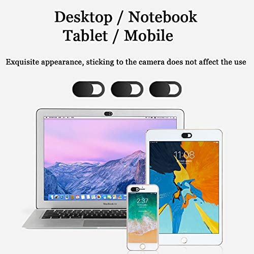 MnPixel Webcam Cover MacBook Pro iPad Cell Phone iMac PC iPhone Tablet 6-Pack Ultra Thin as Fingernail Laptop Camera Cover Blocker Slide for PC