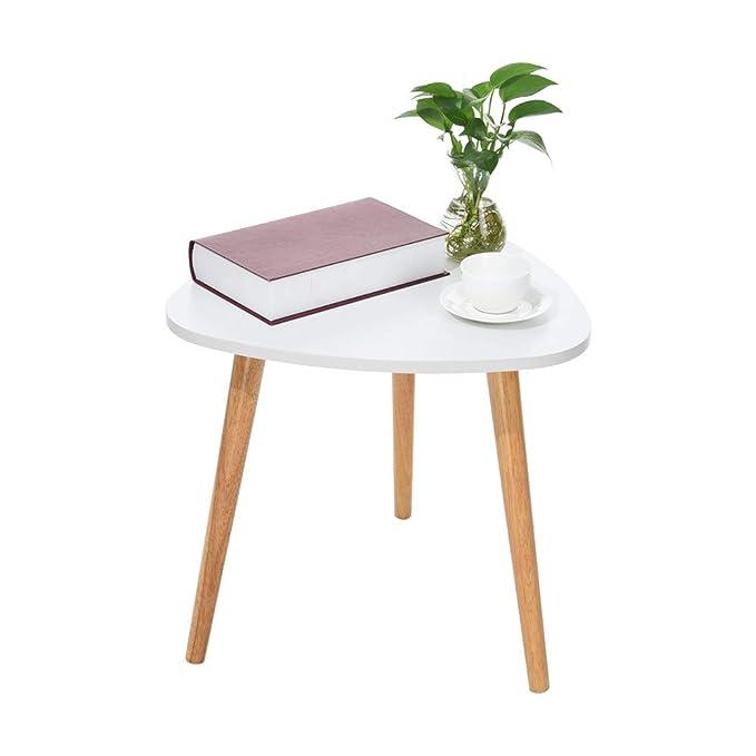 Amazon.com: Mesa de café pequeña, Lookvv moderna para ...