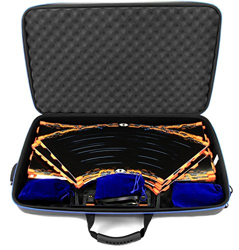 (CASEMATIX GARAGE Box Case To Carry Anki Overdrive Starter Kit Tracks or Fast & Furious Edition and Expansion Tracks (16 Total), Supercars , Charging System and More - Includes Three Cloth Bags)