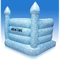 Inflatable Snow Castle for Indoor Snowball Fights, Snowtime Anytime Blow-up Snow Fort