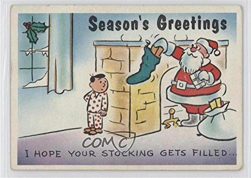 I Hope Your Stocking Gets Filled...Over and Over Again! COMC REVIEWED Good to VG-EX (Trading Card) 1960 Yule Laff - [Base] #38