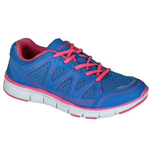 Sneaker - Schuhe - Turnschuhe - Sportschuhe Damen mit Farbauswahl Blau/Pink