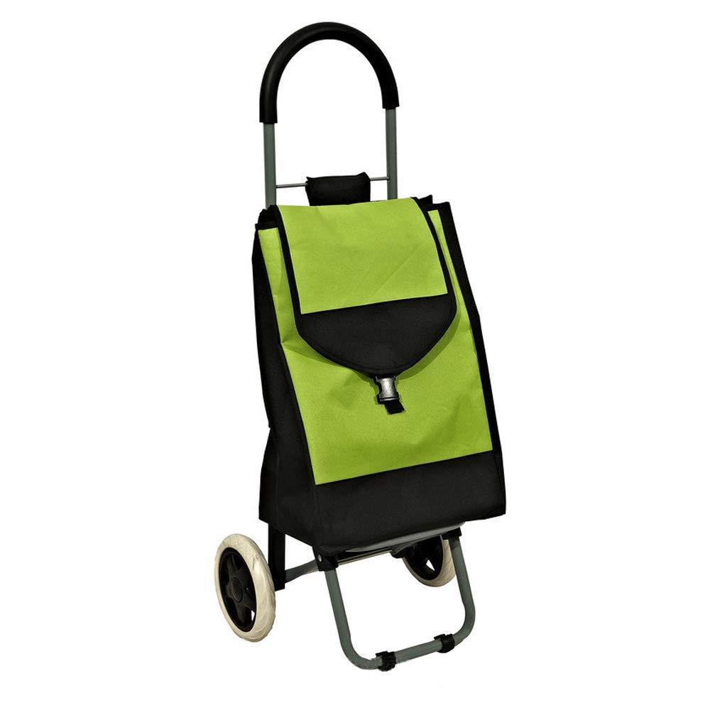 多機能トロリー折り畳み式ショッピングカート :、老人買い物用野菜、登る階段、ショッピングカート (色、小型カート (色 : 青) Green B07K9DVMFX Green Green, さのめん:71eabc35 --- anime-portal.club
