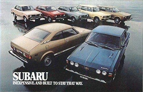 1971 Subaru sales brochure: GF DL Hardtop Coupe Wagon Sedan