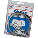 Breeze Make-A-Clamp Stainless Steel Hose Clamp System, 1 Kit contains: 8-1/2 ft band, 3 adjustable fasteners, 1 band splice (Pack of 1)
