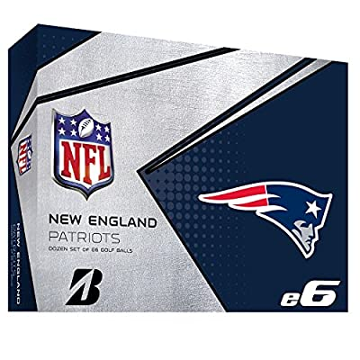 Bridgestone 6SWXNFLNP E6 New England Patriots Golf Balls (1 Dozen), White
