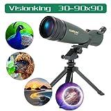 30-90x90 Waterproof Spotting Scope Monocular Birding Telescope Power
