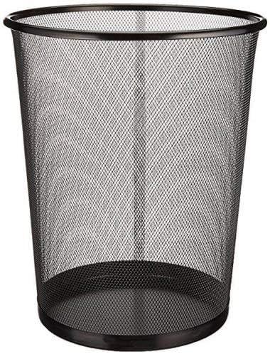 29,5 x 35 cm EUROXANTY/® Pattumiera da ufficio Cestino circolare in rete metallica Cestino nero 10 L grigio