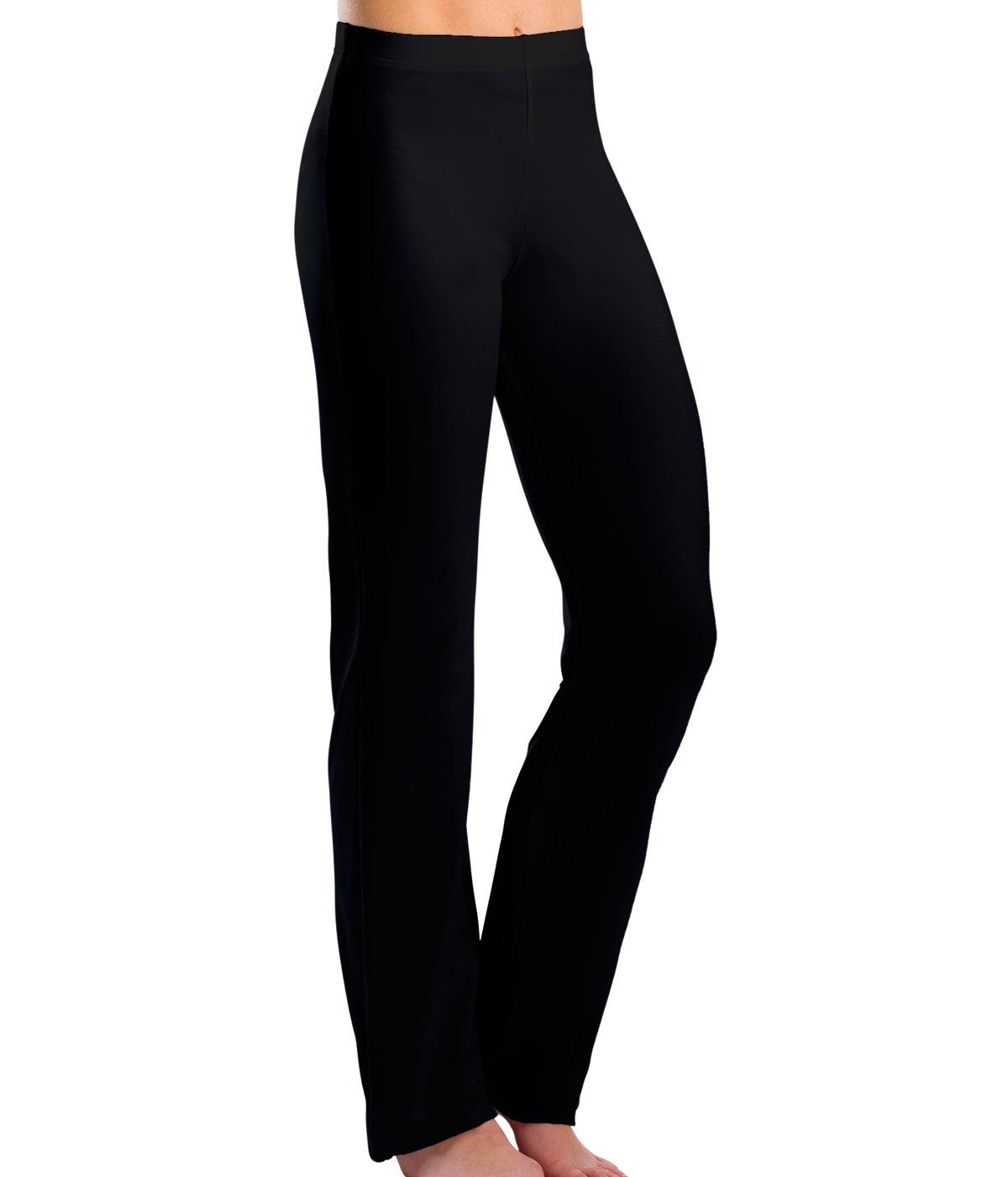 Motionwear Girl's Boot Cut Jazz Pants L BLACK