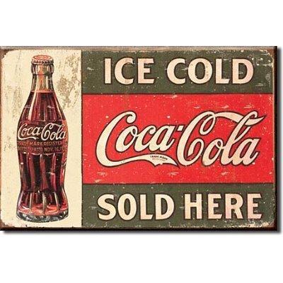 (2x3) Ice Cold Coca Cola Sold Here 1916 Coke Bottle Distressed Retro Vintage Locker Refrigerator Magnet by Coca-Cola