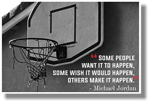 Make It Happen - Michael Jordan - - NEW Motivational Classroom POSTER