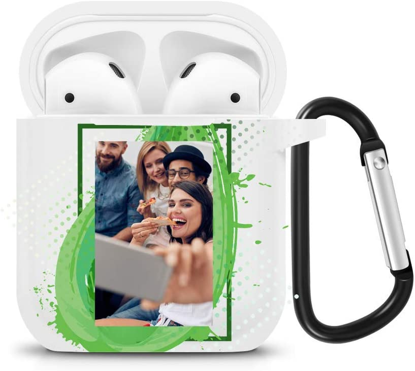 Unterst/ützt kabelloses Laden Silikon h/ülle Cute Kompatibel mit Apple AirPods 1 /& 2 Sto/ßfeste Schutzh/ülle - wei/ß - Perfekt Passt H/ülle LED an der Frontseite Nicht Sichtbar