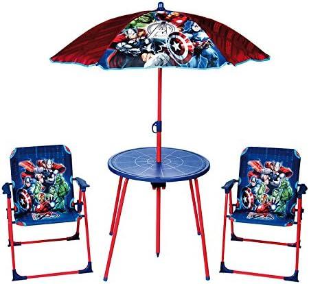 Marvel Avengers Deluxe al Aire Libre jardín Patio Juego de Mesa y sillas: Amazon.es: Jardín
