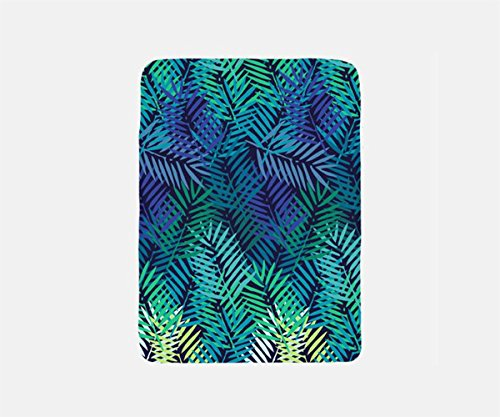 Tropical Blanket Fleece, Travel Blanket Airplane, Palm Leaf Blanket Throw, Summer Blanket, Beach Blanket