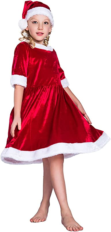 EraSpooky Niña Mamá Papá Noel Holly Papá Noel Navidad Disfraz ...