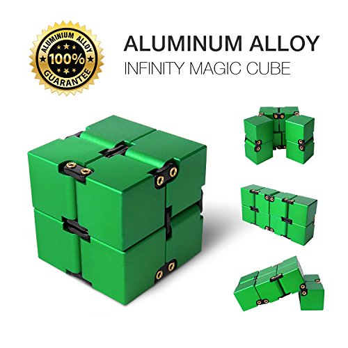 Aluminium Alloy Infinity Pocket Size Cube Toys JOYNOTE Relaxation Office Stress Reducers for ADD, ADHD, Anxiety, Autism Adult & Kids (Green) supplier