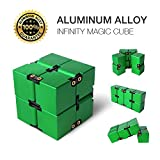 Aluminium Alloy Infinity Pocket Size Cube Toys JOYNOTE Relaxation Office Stress Reducers for ADD, ADHD, Anxiety, Autism Adult & Kids (Green)