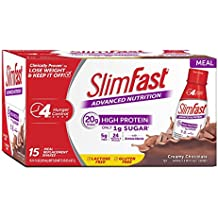SlimFast Advanced Nutrition Creamy Milk Chocolate – Meal Replacement – 20g of Protein – 11oz – 15 Count