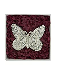 Fine Pewter Butterfly Brooch, Handcast by William Sturt
