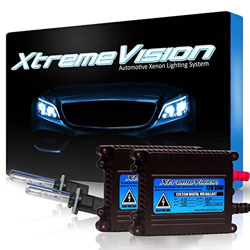 XtremeVision 35W Xenon HID Lights with Premium Slim Ballast – 880/881 6000K – 6K Light Blue – 2 Year Warranty