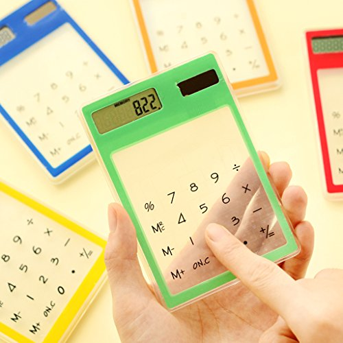 Amazon com : Timberlark Mini Solar Calculator with LCD, Transparent