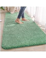 TEOV Badmatta grön 80 x 120 cm, badmattor halkfria & tvättbara badrumsmattor, mattor absorberande mjuk med hög hydroskopicitet badrumsmatta för badkar, badrum, vardagsrum och sovrum