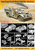 Dragon Models Long Range Desert Group Patrol Car with 2cm Cannon Armor Pro Series Tank Model Building Kit, 1:72 Scale