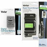 Vivitar EN-EL14A EN-EL14 2300mAh Replacement Li-ion Battery + Car/Home Charger For Nikon D3100, D3200, D3300, D5100, D5200, D5300, D5500, Coolpix P7000, P7100, P7700, P7800, Df Cameras & More + eCost Microfiber Cleaning Cloth