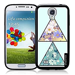 Cool Painting Traingle Flower Pattern Thinshell Case Protective S4 Case