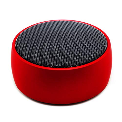 SODYSNAY Q8 Mini Bluetooth Speaker,Bluetooth Speaker with 9 Hour Playtime, 39-Foot Bluetooth Range Dual-Driver Portable Wireless Speaker with Low Harmonic Distortion and Superior Sound-Red