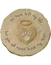 Grasslands Road Beloved You Will Never Leave My Heart Paw Print with Halo Pet Remembrance Stepping Stone Plaque
