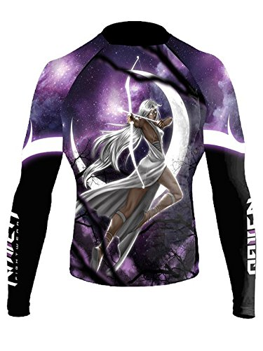 Raven Fightwear Women's The Gods of Greece Artemis Rash Guard MMA BJJ Black X-Large rash guard mma 8