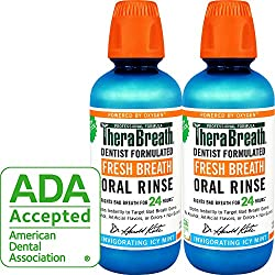 Praised for its ability to attack and eliminate embarrassing breath odor, the patented TheraBreath formula in Fresh Breath Oral Rinse uses the power of oxygen to target bad-breath-causing bacteria deep below the surface of the tongue and at the back ...