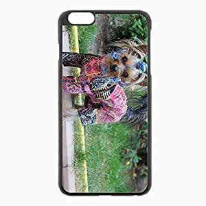 iPhone 6 Plus Black Hardshell Case 5.5inch - yorkshire terrier dog puppy Desin Images Protector Back Cover