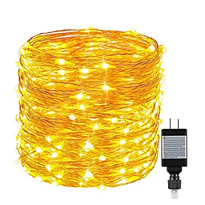 String Lights, Ruyilam Fairy Lights Waterproof Outdoor & Indoor Decorative Lights for Bedroom, Garden, Patio, Parties, UL Power Supply Copper Wire Lights, Warm White