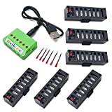 6Pcs 3.7V 500mah Battery + 1 to 6 Charger + Charging Cable for JY018 EACHINE E52 Wifi Contixo F8 RC Quadcopter Drone Parts