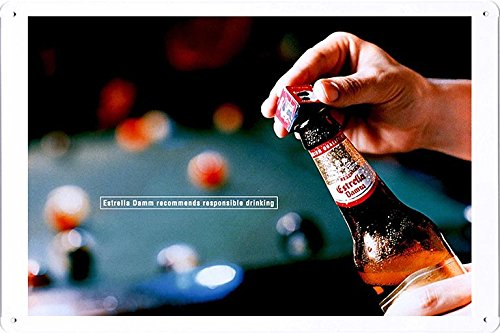 tin-sign-metal-poster-plate-8x12-of-estrella-damm-beer-billiards-by-food-beverage-decor-sign