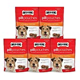 Milk-Bone Pill Pouches with Real Chicken Dog Treats, 5 Bags of 25 Treats