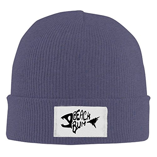 Men's Beach Bum Wig (Creamfly Adult Beach Bum Logo Wool Watch Cap Navy)