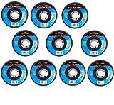 """(10) 4 1/2"""" 40 Grit Flap Sanding Grinding Discs 4.5"""" 7/8"""" Angle Grinder"""
