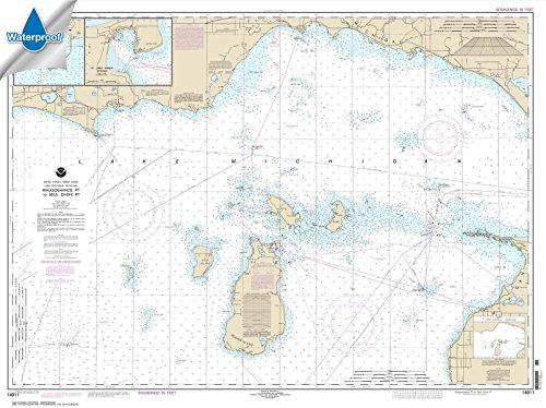 - Paradise Cay Publications NOAA Chart 14911: Waugoshance Point to Seul Choix Point: including Beaver Island Group 35.6 x 47.7 (WATERPROOF)