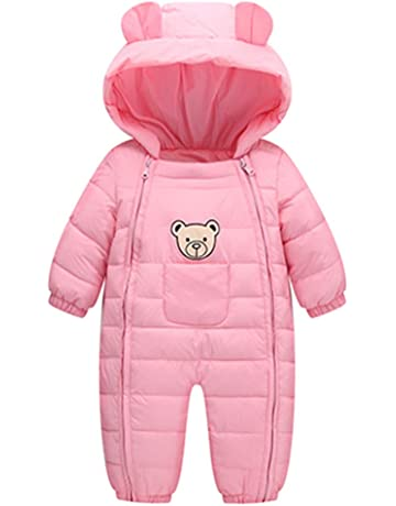 Baby Winteranzug Overall Winterjacke Skianzug Kinder Anzug Schneeanzug warm dick