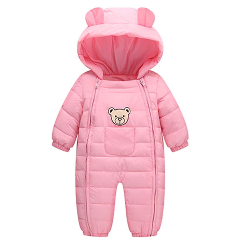 Livoral Baby Winterjacke Warmer mit Kapuze Overall des neugeborenen Babykarikaturwinters starker Overall