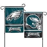 """Philadelphia Eagles Polyester 12""""X18"""" 2 SIDED Garden Yard Wall Flag Wincraft"""